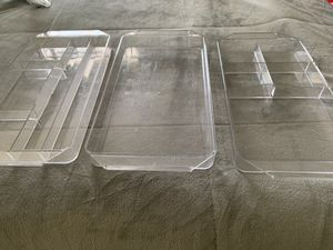 3 Clear plastic drawer organizer for Sale in Oviedo, FL