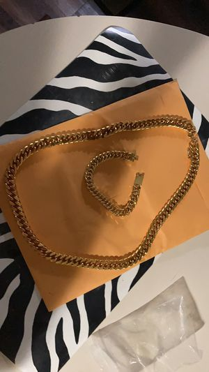 30 inch 14kt 16mm gold filled Miami Cuban link chain and bracelet set 150 obo for Sale in Mechanicsburg, PA