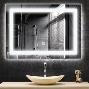27.5 LED Wall-Mounted Rect Bathroom Mirror w/ Touch for Sale in Wildomar, CA
