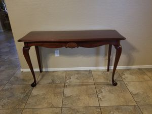 Solid wood sofa / entryway console table for Sale in Peoria, AZ