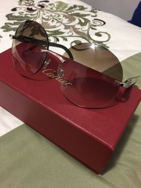 88405ae15b3ee Cartier glasses buffalo horn platinum diamond for Sale in Hartford ...