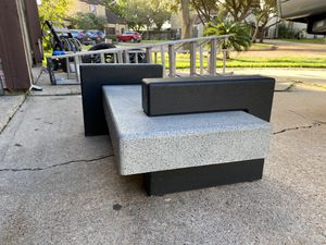 Coffee table with matching end tables with glass included for Sale in Houston, TX