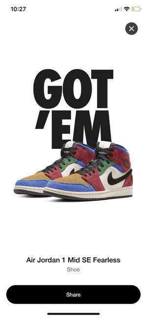 "Nike Jordan 1 Mid Fearless ""Blue the Great"" for Sale in Santa Ana, CA"