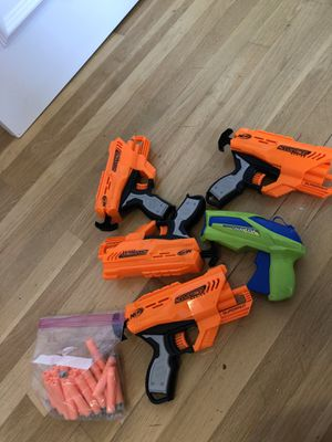 4 nerf guns and water gun for Sale in North Miami Beach, FL