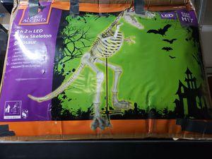 **Like New**9ft T Rex Halloween Skelton Dinosaur with LED eyes for Sale in Goodyear, AZ