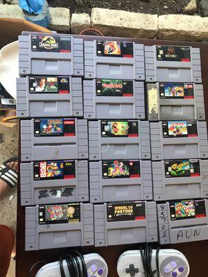Super Nintendo 15 games & 2 cotrols for Sale in Austin, TX