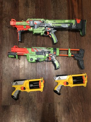Nerf guns lot of 4 for Sale in Fort Worth, TX