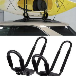 New Universal 1 pair J-shape Rack HD Kayak Carrier Canoe Boat Surf Ski Roof Top Mounted on Car SUV Crossbar kayak rack for Sale in Whittier, CA