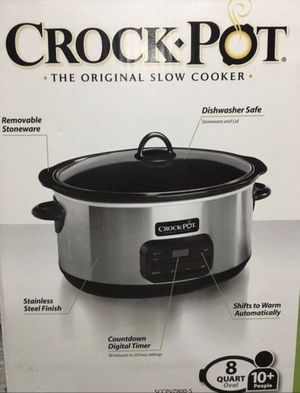 Crock Pot Programable 8 quart NEW Slow Cooker for Sale in Miami, FL