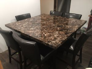 Large Kitchen Table with 6 Chairs for Sale in James Creek, PA
