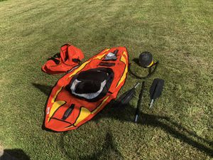 (2) Two Sharper Image Inflatable Kayaks w/Pumps and carry cases for Sale in Waldorf, MD