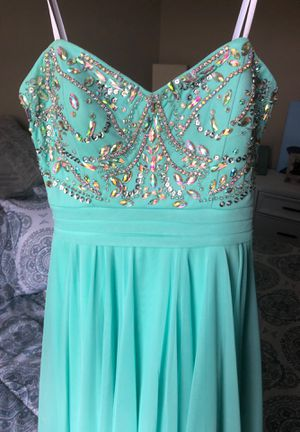 Teal, strapless dress for Sale in Carnegie, PA