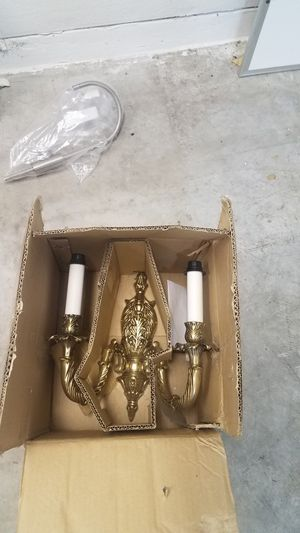 Gold candle sconce for Sale in Las Vegas, NV