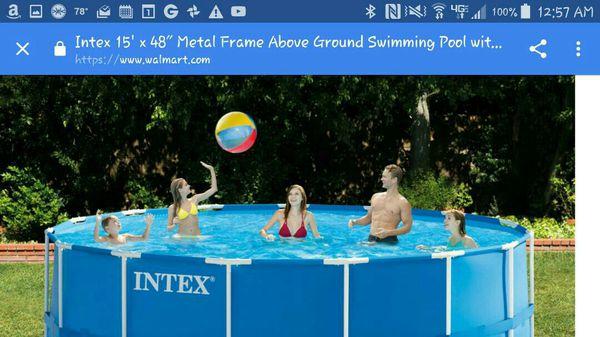Intex 15 x 48 above ground pool