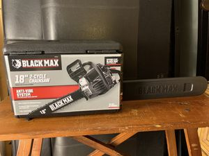Black Max 38cc 2-Cycle Engine 18-inch Gas Chainsaw NEW for Sale in Miami, FL