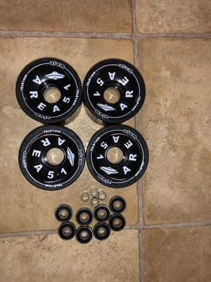 Atom longboard wheels with bearings and spacers for Sale in Lincoln, NE