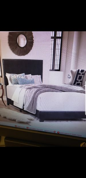 Twin Upholstered Bed. Platform Beds ALL SIZES. Box springs. Bunkie boards!! BRAND NEW for Sale in Phoenix, AZ