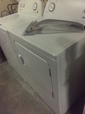 Washer & dryer electric 2019 Amana HE XL capacity w/d set. Free delivery on 1st floor level. for Sale in Lutz, FL