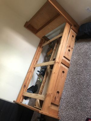 Twin bed frame and matching desk for Sale in Escondido, CA
