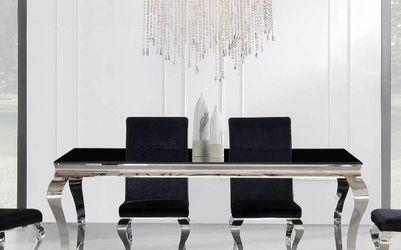 Ada Black Glass Dining Set | D858DT by Global for Sale in Arlington,  VA