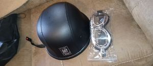 German style motorcycle helmet with goggles for Sale in Westerville, OH