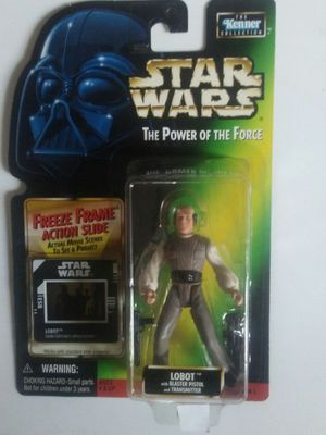 Star Wars The Power of the Force Lobot with blaster pistol and transmitter for Sale in San Diego, CA