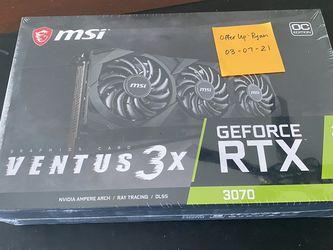 MSI Ventus 3x Nvidia 3070 Graphics Card for Sale in Yorba Linda,  CA