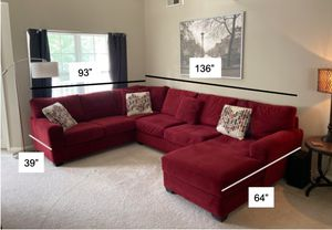 Huge Sectional Couch w/ Chaise for Sale in Westborough, MA