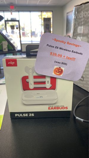 Pulse Z6 earbuds only $39.99 plus tax!!! Limited stock!! Come visit us at Cricket in Lytle! for Sale in Lytle, TX