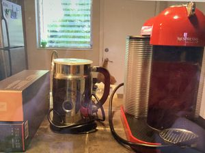 Nespresso Vertuoline Coffee and Espresso Maker RED, Milk Steamer plus two boxes of coffee pods!!!!! for Sale in Fort Lauderdale, FL