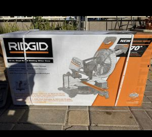 RIDGID 15 Amp Corded 12 in. Dual Bevel Sliding Miter Saw with 70° Miter Capacity for Sale in Phoenix, AZ