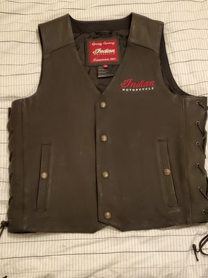Indian Motorcycle leather vest - Medium for Sale in Long Beach, CA