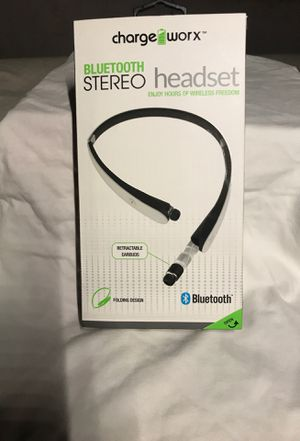 Bluetooth stereo headset wireless Pullout earbuds folding design for Sale in San Antonio, TX