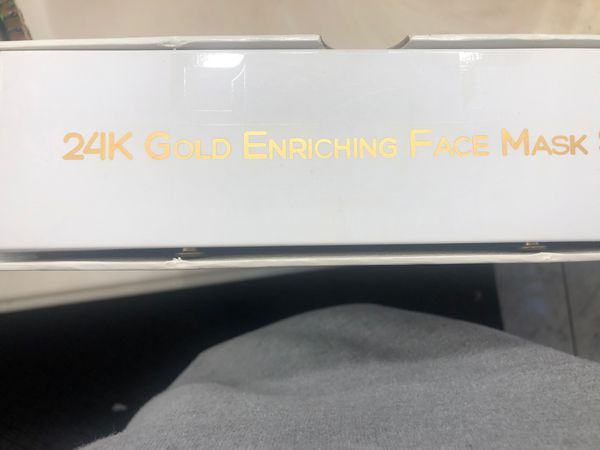 24K gold face masks