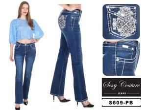 Sexy Couture Women's 547-PB Fleur De Lis Medium Wash Boot Cut Denim Jeans 3-17 for Sale in TX, US