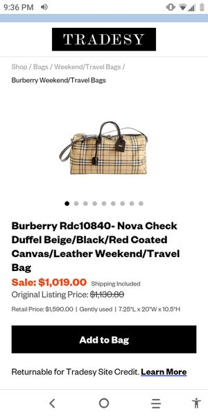 Authentic Burberry duffle bag for sale worth over $1500 for Sale in Dallas, TX