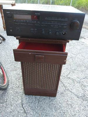 Vintage Yamaha Stereo / Speaker with Drawer for Sale in St. Louis, MO