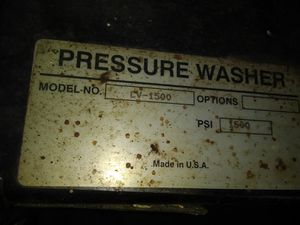 Pressure washer.BRIGGS and STRATTON..Model CV 1500.PSI1500 for Sale in Brentwood, PA