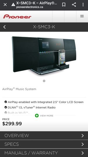 Pioneer Home Stereo Bluetooth System for Sale in Dublin, CA