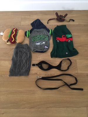 Dog costume, Christmas, Seahawks, harness, leash for Sale in Puyallup, WA