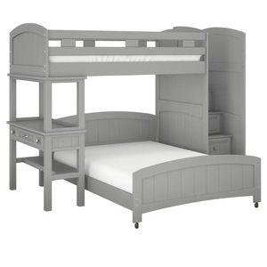 Twin/Full Step Bunk Bed With Desk for Sale in Alpharetta, GA