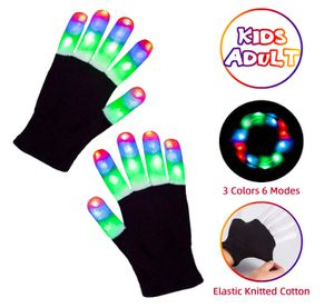 Brand New Led Gloves Light Up Rave Glow Gloves 3 Colors 6 Modes Flashing Halloween Costume Birthday EDM Party Christ-mas Light Up Toys For Kids Size for Sale in Hayward, CA