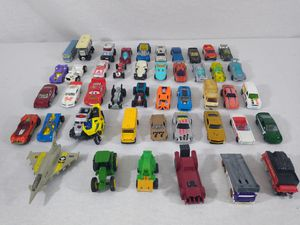 Collection Lot of Various Toy Cars & Trucks Matchbox Hot Wheels Planes 45pcs for Sale in Cleveland, OH