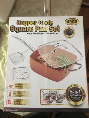 Cooper Cook Square Pan Set 4 pcs一{contact info removed} for Sale in Lexington, MA