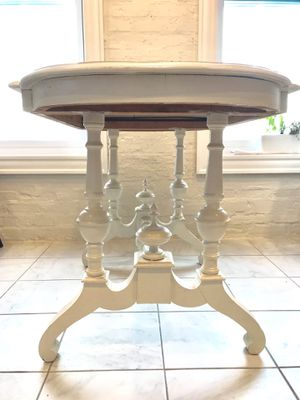 Ivory Ornate Side Table / small dining room table for Sale in Chicago, IL