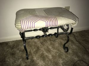 1920s iron foot stool recoverable for Sale in Peoria, IL