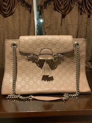 78da28ebed GUCCI Guccissima Large Emily Chain Shoulder Bag Rose Beige for Sale in  Milpitas, CA