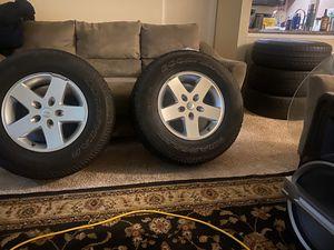 original 17 jeep wrangler wheels with rims for Sale in Glen Allen, VA