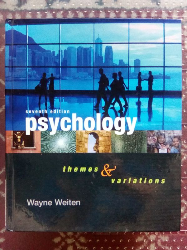 Psychology: Themes and Variations (2007) Seventh Edition (Hardcover) by Wayne Weiten for Sale