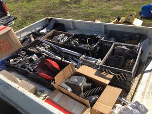 Trailer full of misc motorcycle parts for dirt bikes, som new items for Sale in Chino, CA